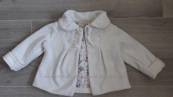 Белое пальтишко Next 1, 5-2 года