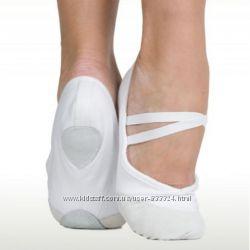 Балетки для танцев и гимнастики белые, черные оптом и в розницу