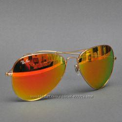 Солнцезащитные очки Ray-Ban Aviator стекло зеркальные распродажа