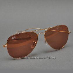 Солнцезащитные очки Ray-Ban Aviator 3026 0014B High Quality Стекло авиатор