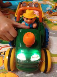 Игрушка на колесах Kiddieland - Трактор с трейлером на укр. языке