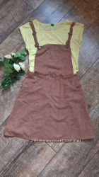 Крутой и стильный сарафан под замшцвет моккона бретели-Англия