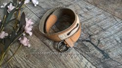 Брендовый кожаный ремень пояс от Timberlandкоричневый90см
