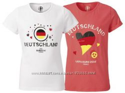 Качественная футболка для девочки EURO2016  Германия