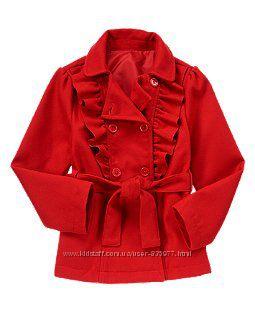 Нарядное красное пальто Крейзи 8, Л-10-12л. Crazy8