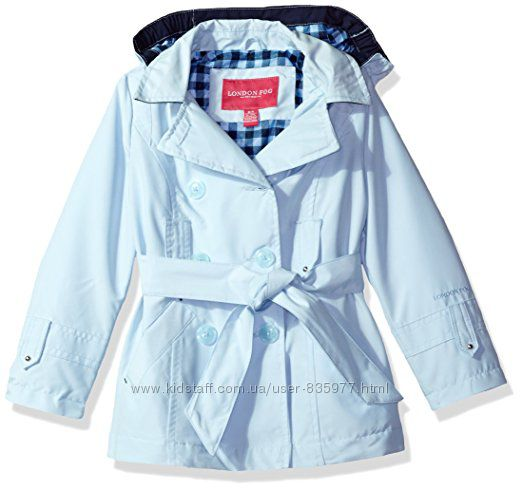 Красивейший нежно- голубой осенний плащ курка для девочки 148 London Fog
