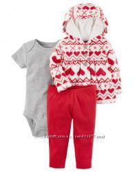 Флисовые и хлопковые комплекты костюмы Картерс Carters 6-18м Новая коллекци