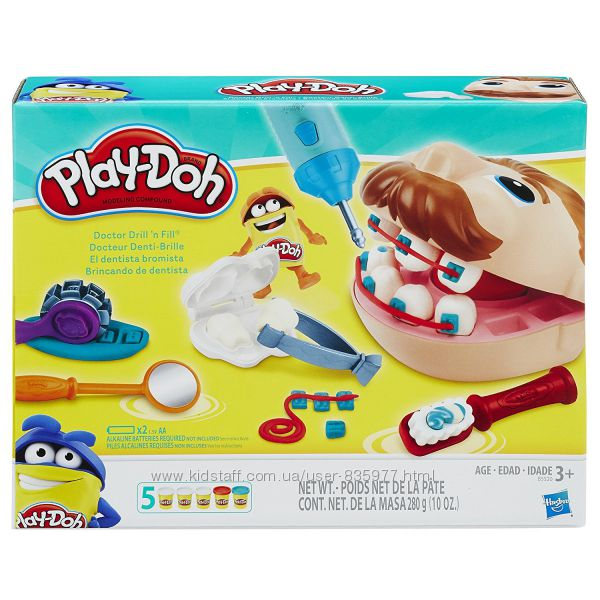 Игровой набор Плей до Hasbro Play-Doh Мистер Зубастик Набор стоматолога