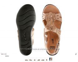 Кожаные босоножки сандалии Кларкс Clarks р. 6, 5  наш  39, 5 по ст. 25, 5см