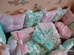 Защитные бортики, постельное, гнездышко, кокон, плед, конверт