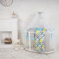 Комплект Baby Design разные цвета на овальную стандартную кроватку