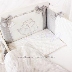 Комплект в кроватку для новорожденных Smile
