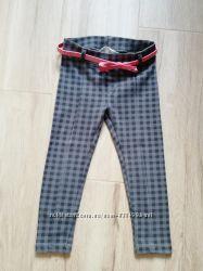 Брюки джегинсы лосины штаны H&M 2-3 года с поясом