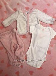 Костюм для новорождённых для девочки бодик Carters