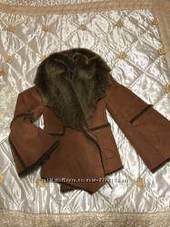 Дубленка женская куртка пальто полушубок