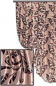 Ткань для штор блекаут вензеля двухсторонний, пошив
