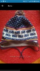 Тепленькая шапочка на флисе babyclub 49