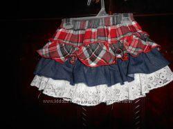 юбки с вшытыми шортами на 3, 4 года