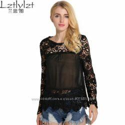 Шикарная кружеваная блуза
