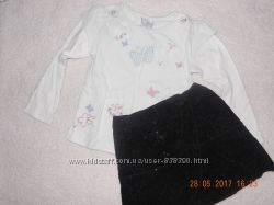 Комплект юбка и реглан на 3-4 года