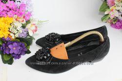 Удобные нарядные кожаные балетки туфли, натуральная кожа, замш,