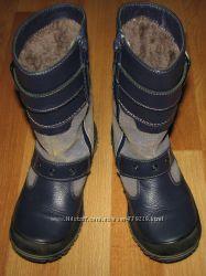 Теплые кожаные зимние сапоги на цигейке Shagovita размер 30