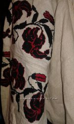 Сорочка вышиванка из льна с вышивкой антиквариат