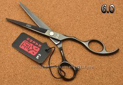 Ножницы 6 парикмахерские KASHO прямые серый глянец