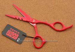 Ножницы 5. 5 парикмахерские KASHO прямые красные