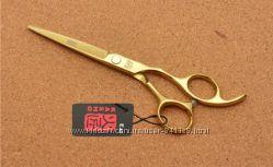 Ножницы 6. 0 парикмахерские KASHO прямые золотое напыление