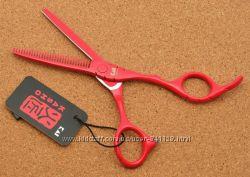 Ножницы 5. 5 парикмахерские KASHO филировочные красные