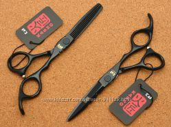 Ножницы 5. 5 парикмахерские KASHO чёрные