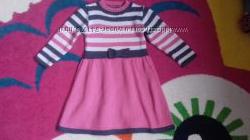 Платье теплое 86-92см Лютик