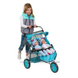 Супер подарок для маленьких мамочек Коляска для кукол-двойняшек