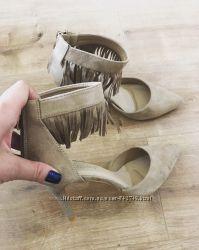 туфли беж бахрома