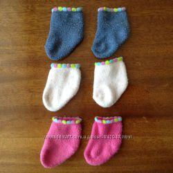 Набір теплих шкарпеточок Cool Club на 0-3 місяці