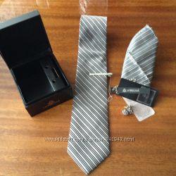 Краватка La&acutePescara, нова з біркою, хустинка і запонки