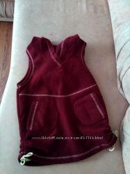 Тёплая флисовая жилетка р. 4-6 лет