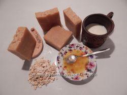 натуральное мыло-пилинг молоко-мед-овсянка с нуля, органическое