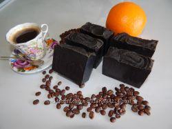 кофе и специи - натуральное мыло-скраб, массажное, для проблемных зон
