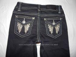 ххS, поб 40-42, укороченные узкачи джинсы скинни со стразами Arizona, Гер