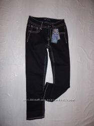 р. 152-158-164, поб 40-42, укороченные узкачи джинсы скинни со стразами A