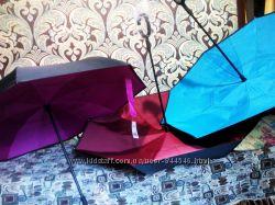Зонт Up Brella обратного сложения Ветрозащитный