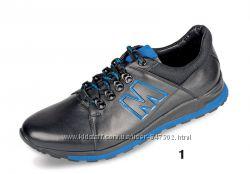 Кожаные кроссовки Мида 11154