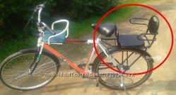 Сиденье на велосипед для ребенка на раму и на багажник
