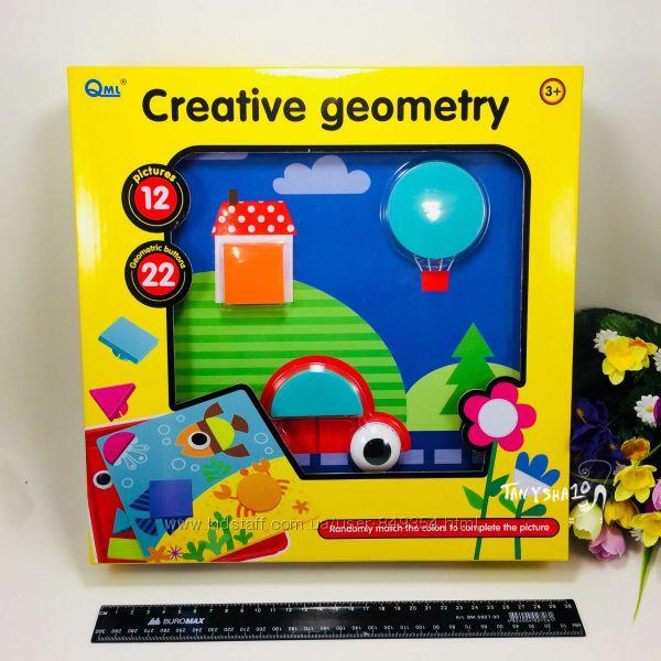 Мозаика для малышей Цветная фантазия пуговицы 3D Пазл аналог GeniusArt