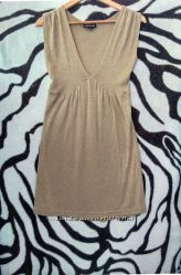 Золотое платье сукня сарафан warehouse 10 36 38 м беж
