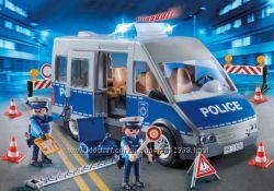 Playmobil 9236 Полицейский фургон с блок-постом, свет, звук