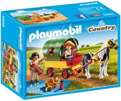 Playmobil 6948 Пони с повозкой, поездка на пикник