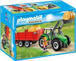 Playmobil 6130 Большой трактор с прицепом